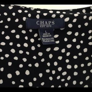 Chaps Dresses - Dots and dots on this cap-sleeved dress. Size L